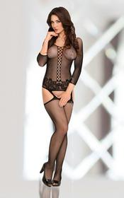 Adila Black 6274 bodystocking
