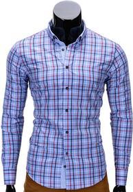 Ombre Clothing Koszula K327 - BŁĘKITNA