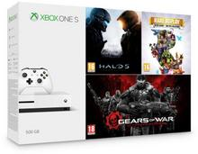 Microsoft Xbox One S 500GB Biały + Halo 5 + Rare Replay + Gears of War Ultimate Edition