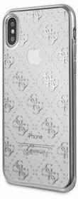 Guess Etui Transparent 4G do iPhone X srebrne GUHCPXTR4GS