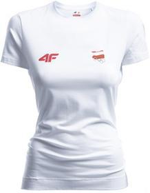 4F Koszulka damska Polska Pyeongchang 2018 TSD900R biały [S4Z17-TSD900R] TSD900R biały