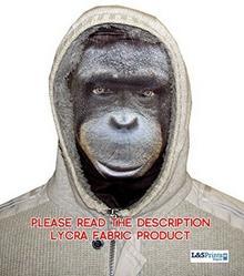 L&S PRINTS FOAM DESIGNS Halloween Clyde Monkey zabawny materiału Face maska wzornictwo snood maska na twarz wyprodukowane w Yorkshire