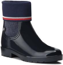 0b09505bf40bf -27% Tommy Hilfiger Kalosze Knitted Sock Rain Bo FW0FW03565 Midnight 403