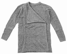 ICHI sweter Knitted cardigan Grey Melange 10020)