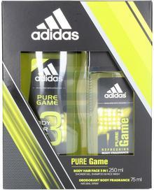 Adidas Pure Game Zestaw Dezodorant w atomizerze + Żel pod prysznic