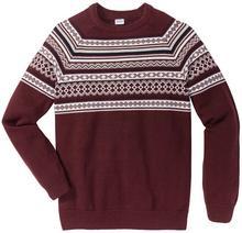 Bonprix Sweter Regular Fit czerwony klonowy