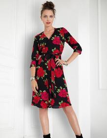 Kasia Miciak design Sukienka kopertowa w róże