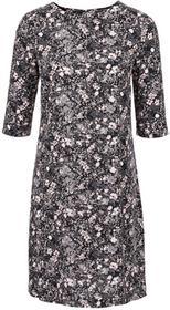 Bonprix Sukienka z wiskozy jasnoróżowy w kwiaty