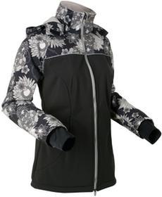 Bonprix Długa kurtka softshell czarny