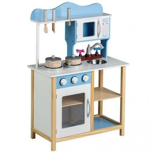 Ecotoys Drewniana Kuchnia Dla Dzieci Z Wyposazeniem 8256 32372
