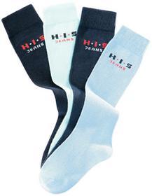 Bonprix Podkolanówki H.I.S (4 pary) niebieski + jasnoniebieski + głęboki niebieski + ciemnoniebieski