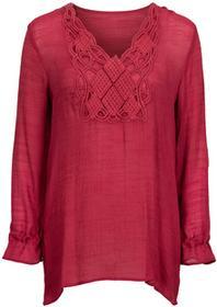 Bonprix Długa bluzka ciemnoczerwony