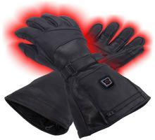 Glovii Ogrzewane skórzane rękawiczki rozmiar XL, czarny