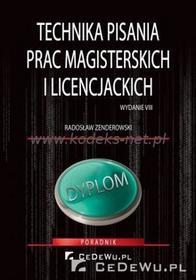 CeDeWu Technika pisania prac magisterskich i licencjackich