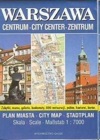 Warszawa - plan miasta (skala 1:7000) - Wydawnictwa GAUSS
