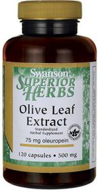 SWANSON Health Products Olive Leaf 500 mg 120 kaps
