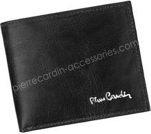 Pierre Cardin Portfel męski skórzany FOSSIL TILAK12 8824 RFID Czarny - czarny FOSSIL TILAK12 8824 RFID czarny-0