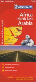 Afryka Północno-Wschodnia mapa 1:4 000 000 Michelin Michelin