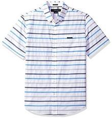 U.S. POLO ASSN. Men's Short Sleeve Slim Fit koszulka Striped, White ghmm, L B074P7KR68