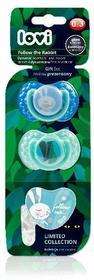 Lovi Smoczek symetryczny Follow the Rabbit 0-3m, 2szt + KLIPS GRATIS : Kolor - Niebieski