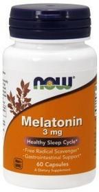 NOW Melatonina 3mg 60kaps Nowfoods