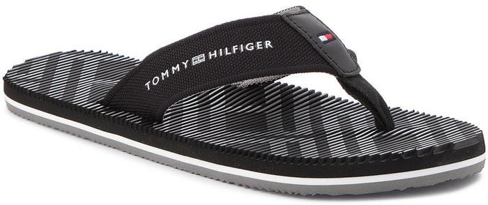 0cf156f640fd0 Tommy Hilfiger Japonki Corporate Stripe Beach Sandal FM0FM01366 Black 990 -  Ceny i opinie na Skapiec.pl