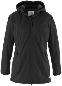 Bonprix Długa kurtka przejściowa, ocieplana czarny