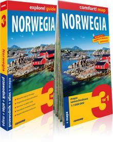 ExpressMap praca zbiorowa explore! guide Norwegia 3w1. Przewodnik + atlas + mapa
