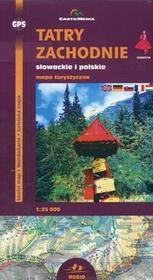 Cartomedia  Tatry Zachodnie słowackie i polskie Mapa turystyczna 1:25 000