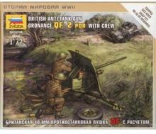 Zvezda British Antitank Gun Ordnance QF MZV-6169