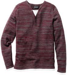 Bonprix Sweter Slim Fit czerwony melanż