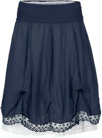 Bonprix Spódnica dwuwarstwowa ciemnoniebiesko-biały