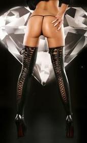 Lolitta Arcyseksowne Pończochy Lacing Stockings Black