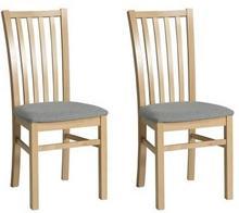 Forte Krzesła Dan tapicerowane komplet 2 szt. szare/buk naturalny