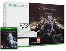 Microsoft Xbox One S 1 TB Biały + Śródziemie Cień Wojny + 6M Live Gold + Śródziemie Cień Mordoru