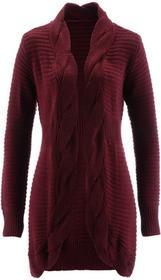 Bonprix Sweter bez zapięcia czerwony klonowy