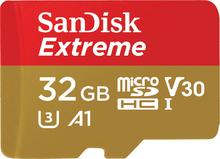 SanDisk MicroSDHC 32 GB Extreme 100MB/s A1 C10 V30 UHS-I U3 + SD Adapter + Rescue Pro Deluxe