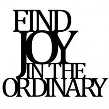 DekoSign Napis Na Ścianę Find Joy In Ordinary 48,0x58,0/Napis/GAT 1 FJO1-1