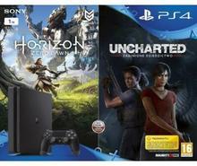 Sony PlayStation 4 Slim 1TB Czarny + Horizon Zero Dawn + Uncharted Zaginione Dziedzictwo + To jesteś Ty
