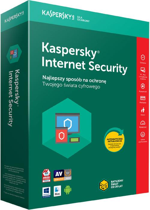 Kaspersky Internet Security multi-device 3PC/1Rok Odnowienie 2018