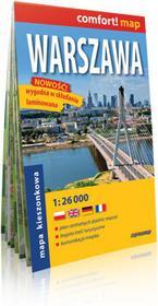 ExpressMap Warszawa laminowany plan miasta 1:26 000 mapa kieszonkowa - Expressmap