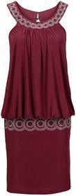 Bonprix Sukienka koktajlowa czerwony klonowy