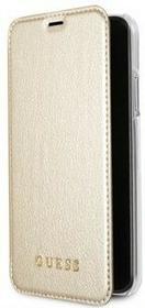 Guess Etui Iridescent book do iPhone X złote GUFLBKPXIGLTGO
