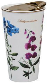 EMPIK Sp. z o.o. Botanicum, Kubek termiczny, kwiaty, biały, 280 ml