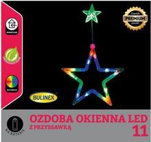 Bulinex Gwiazda na okno LED Bulinex na baterie multikolor 11 lampek 10-501