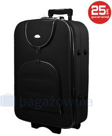 PELLUCCI Średnia walizka PELLUCCI 801 M - Czarny - czarny