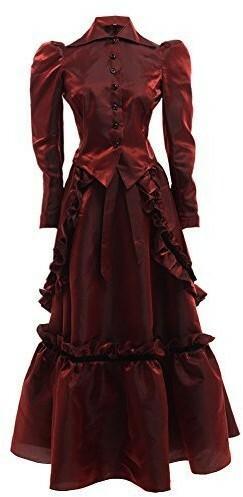 e62e2c716b GRACEART Grace Rodzaj Steampunk edwardian sukienka kurtka oraz ubiory Rock  z nieproduktywnej - 8 czerwony (