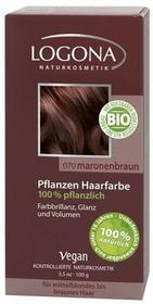 Logona Roślinna farba do włosów w proszku MARONENBRAUN (kasztanowy brąz) GreenLine-705-uniw