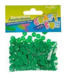 Craft With Fun Cekiny, zielone metaliczne kółka 8 mm - wysyłka w 24h !!!