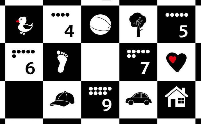 Humbi Dwustronna mata piankowa szachownica+alfabet + mata edukacyjna Ocean z pozytywką 5905669234030